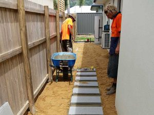 Narrow side of house landscaping Cairns